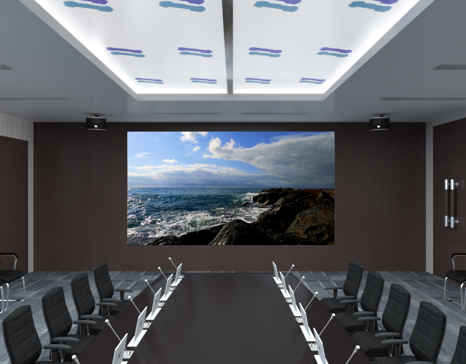 What preparation work is needed before the construction of LED display solution?