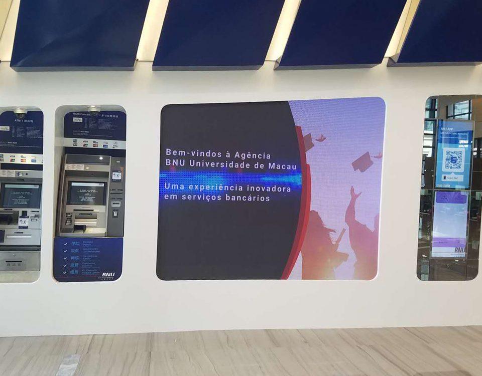 itc P2.5 LED Video Wall Installed in Banco Nacional Ultramarino (BNU) , Macao