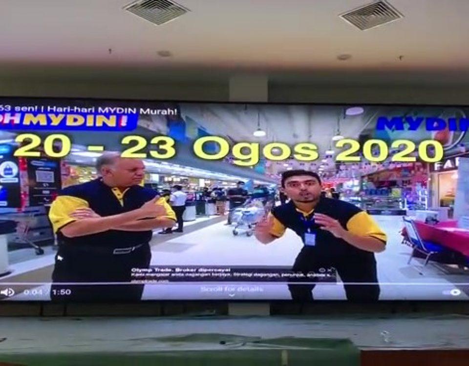 itc LED Screen Applied in Mydin Jengka supermarket in Malaysia