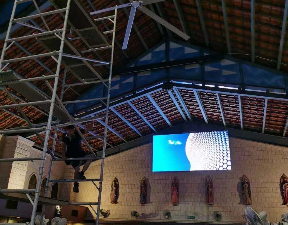 LED Screen project use in Catholic Church,Malaysia