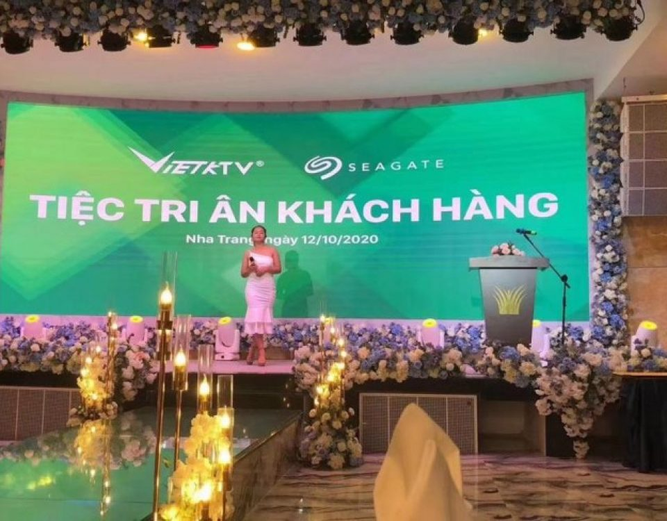 itc P3 Indoor LED Video Wall Applied in Emerald Bay Wedding Center, Vietnam.