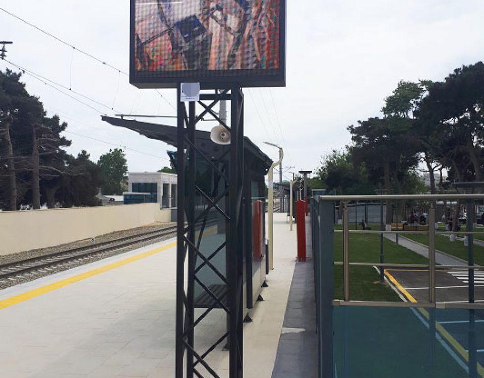itc PA System& LED Video Wall Applied in Baku Ring Railway Station, Azerbaijan
