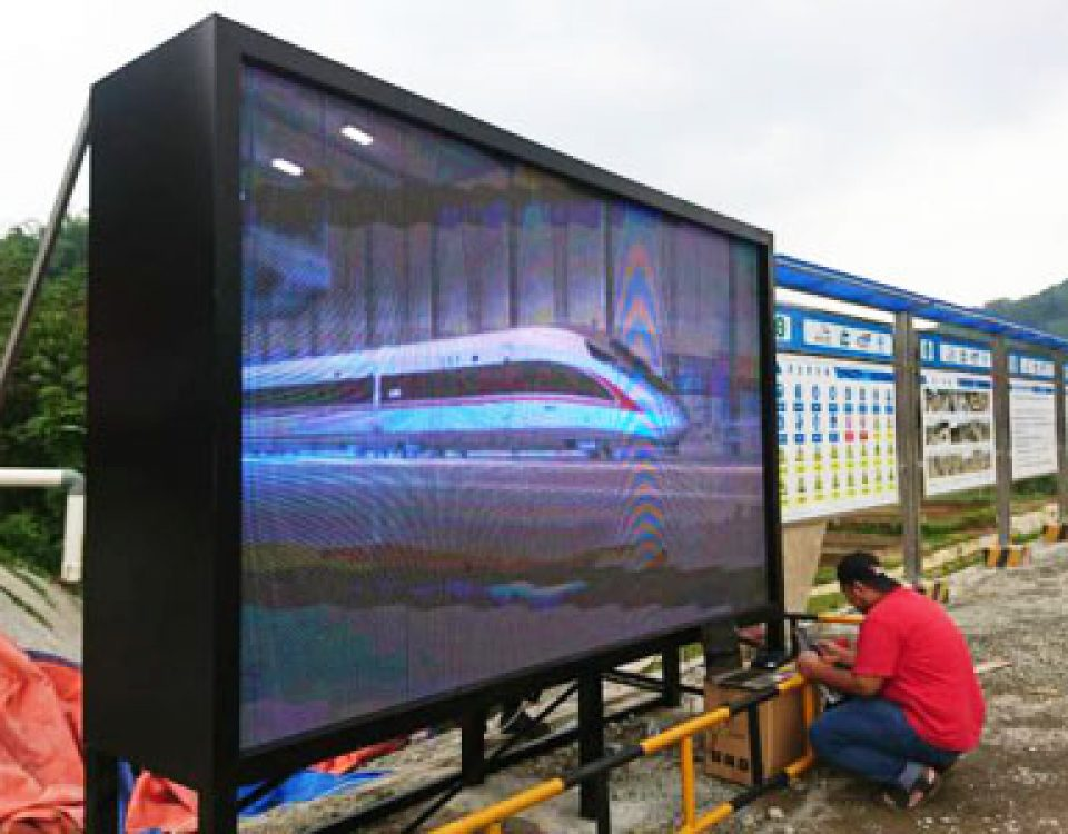 itc LED Screen Applied in Tunnel Entrance of Jakarta-Bandung High-speed Railway, Indonesia
